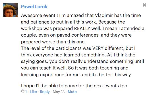 Paweł Lorek - jeden z komentarzy z ostatniego warsztatu
