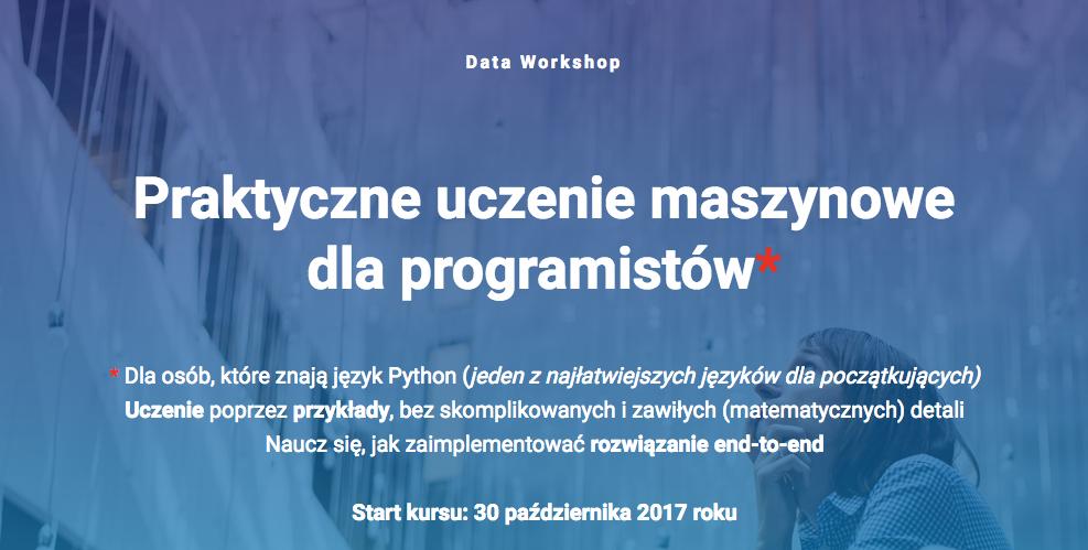 DataWorkshop: Praktyczne uczenie maszynowe dla programistów