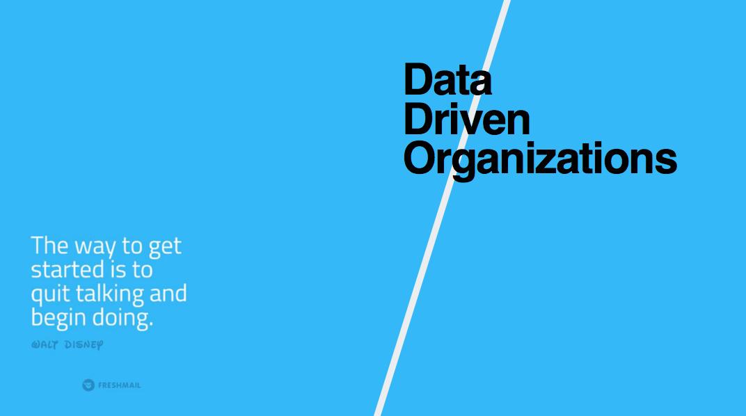 Data Driven Organizations