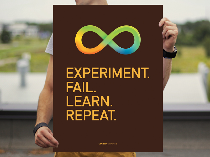 Experiment > Fail > Learn > Repeat