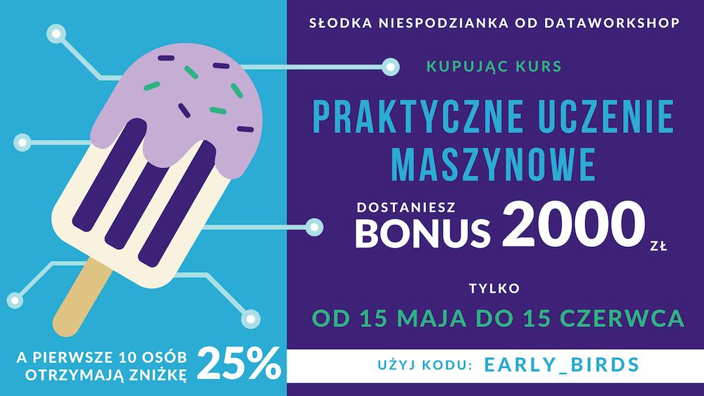 Bonus owartości ponad 2000 zł.