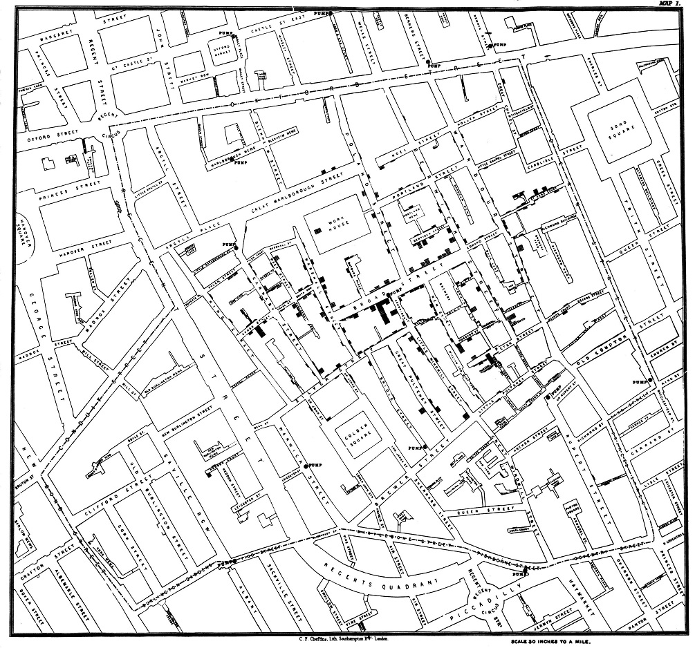 London Cholera Map