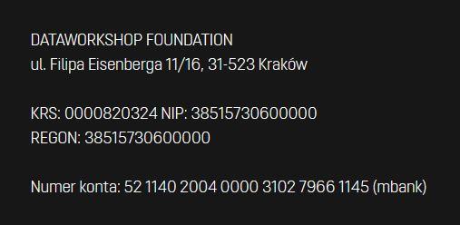 Fundacja DataWorkshop - dane dowsparcia